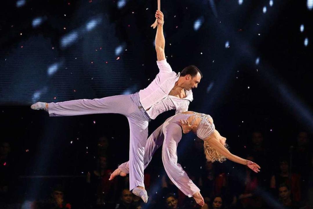 Perfekte Artistik: Dmitriy Grygorov und Anastasiia Vashenko  | Foto: Europa-Park