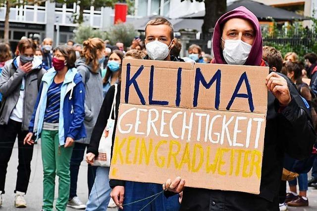 330 Menschen demonstrieren in Lörrach für mehr Klimaschutz
