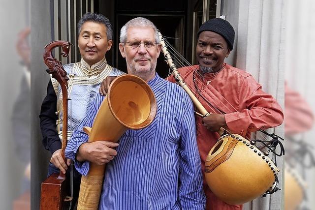 Das Trio Frapapepi spielt Naturtonmusik an der Lahrer Dammenmühle und in Oppenau