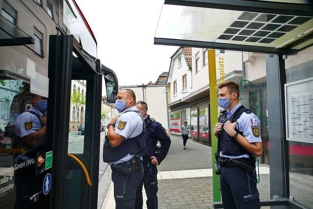 Die Polizei hat am Freitag die Maskenpflicht im ÖPNV in Lahr und Region kontrolliert