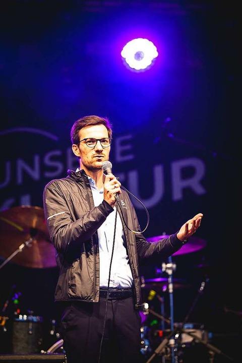 Oberbürgermeister Martin Horn eröffnete das Festival am Donnerstagabend.  | Foto: Janos Ruf