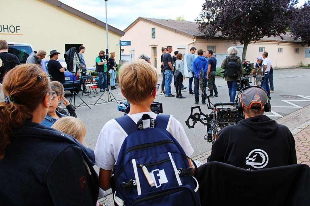 Für die Dreharbeiten im September 2019...of Eichstetten in eine Polizeistation.  | Foto: Annika Sindlinger