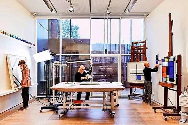 Fondation Beyeler pflegt ihren Mondrian-Bestand in einem Konservierungsprojekt