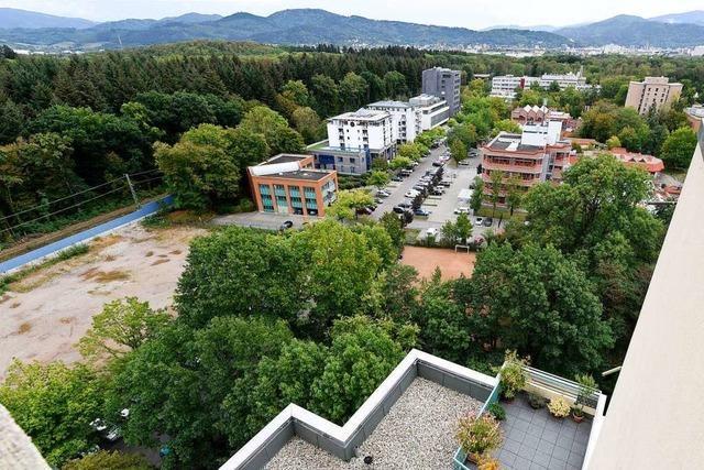 In Freiburg-Landwasser sollen 100 Wohnungen und eine Sporthalle entstehen