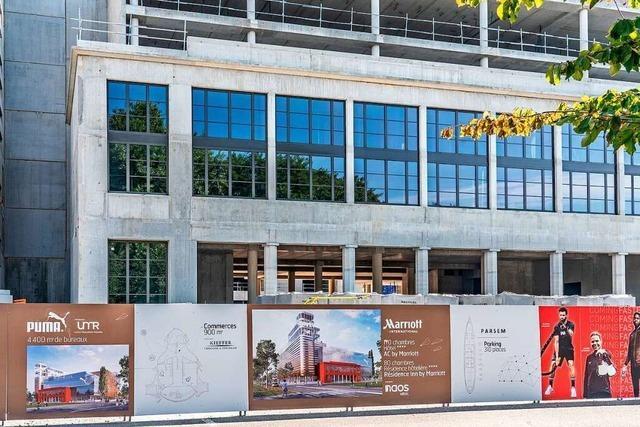 Neben dem Nachbau des Messeportals in Straßburg wird es ein Hotel mit Rooftop-Restaurant geben