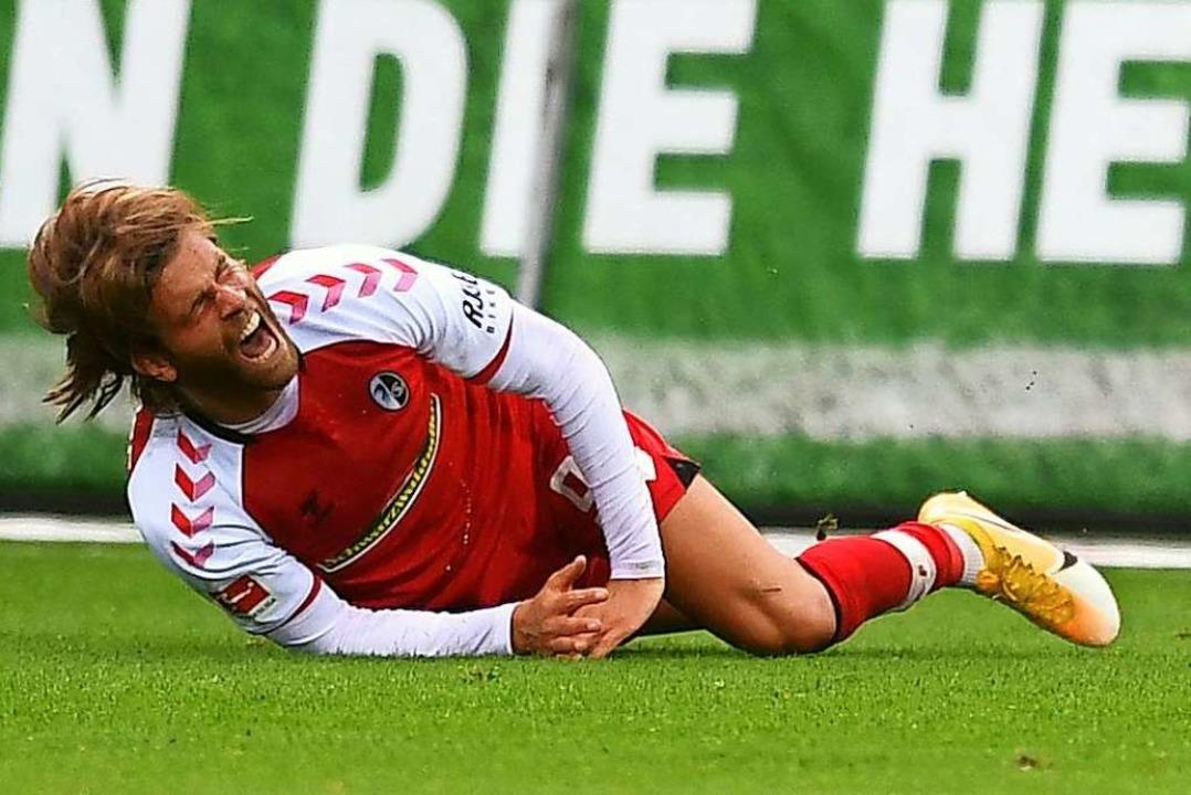 Musste wieder mal viel einstecken, ver...enchance zum Siegtreffer:  Lucas Höler  | Foto: Achim Keller/SC Freiburg