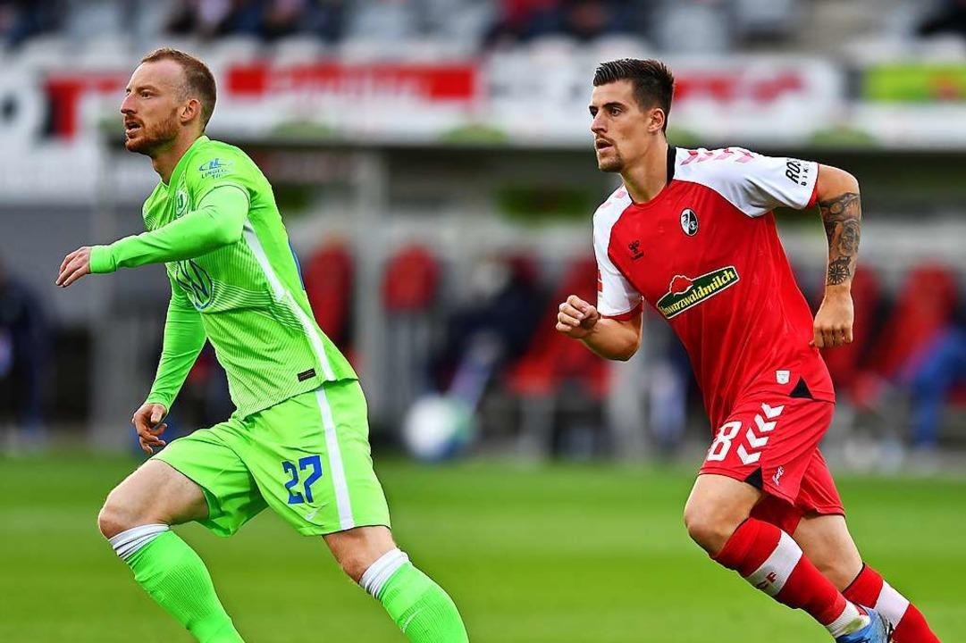 Santamaria (r.) zeigte seine fußballerische Qualität.  | Foto: Achim Keller/SC Freiburg