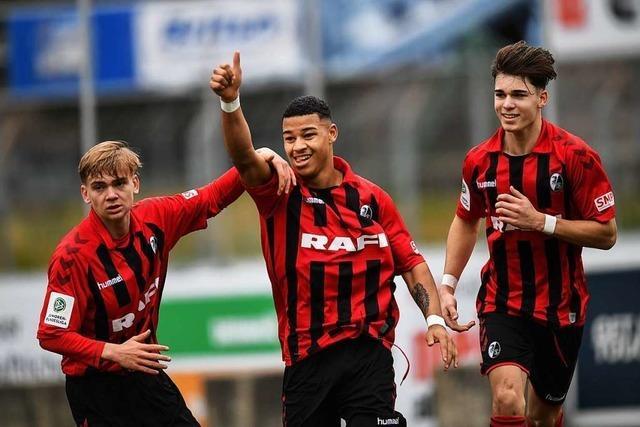 U 19 des SC Freiburg kassiert drei Gegentore in Unterzahl