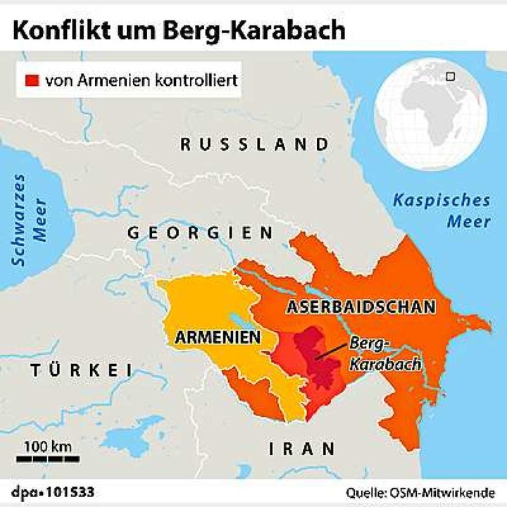 In Berg Karabach Droht Krieg Zwischen Armenien Und Aserbaidschan Ausland Badische Zeitung