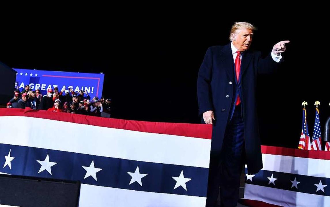 Der Amtsinhaber Donald Trump bei einem...fauftritt in Wisconsin Mitte September  | Foto: MANDEL NGAN (AFP)