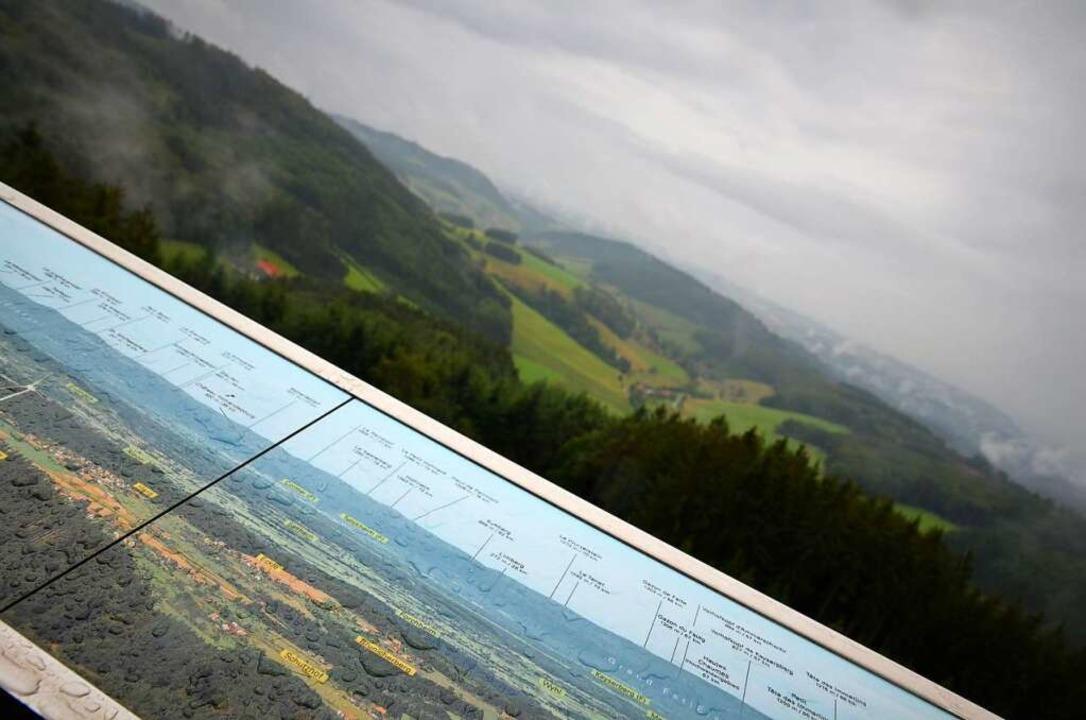 Selbst bei Regen ein imposanter Ausblick    Foto: Kathrin Blum