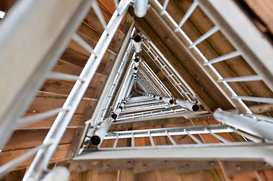 Das Innere des 29 Meter hohen Turms    Foto: Kathrin Blum