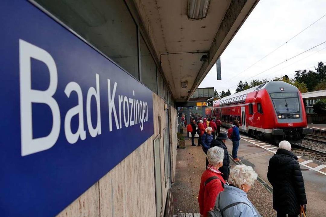 Alle 15 Minuten soll ein Zug nach Freiburg fahren.    Foto: Frank Schoch