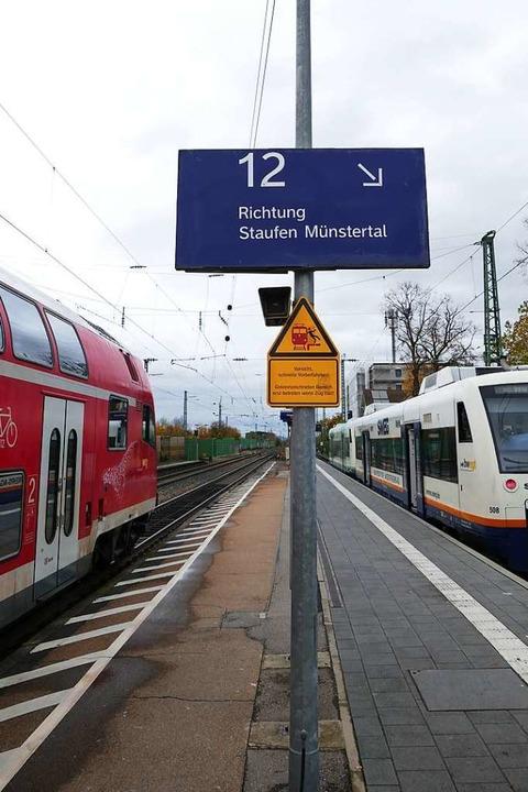 Auch der Anschluss an die Münstertalbahn soll optimiert werden.    Foto: Frank Schoch
