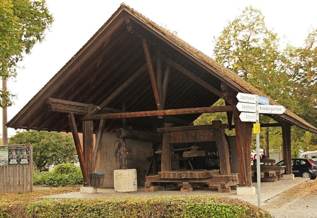 Der Platz mit der historischen Trotte ...von  Jugendlichen umgestaltet werden.   | Foto: Mario Schöneberg