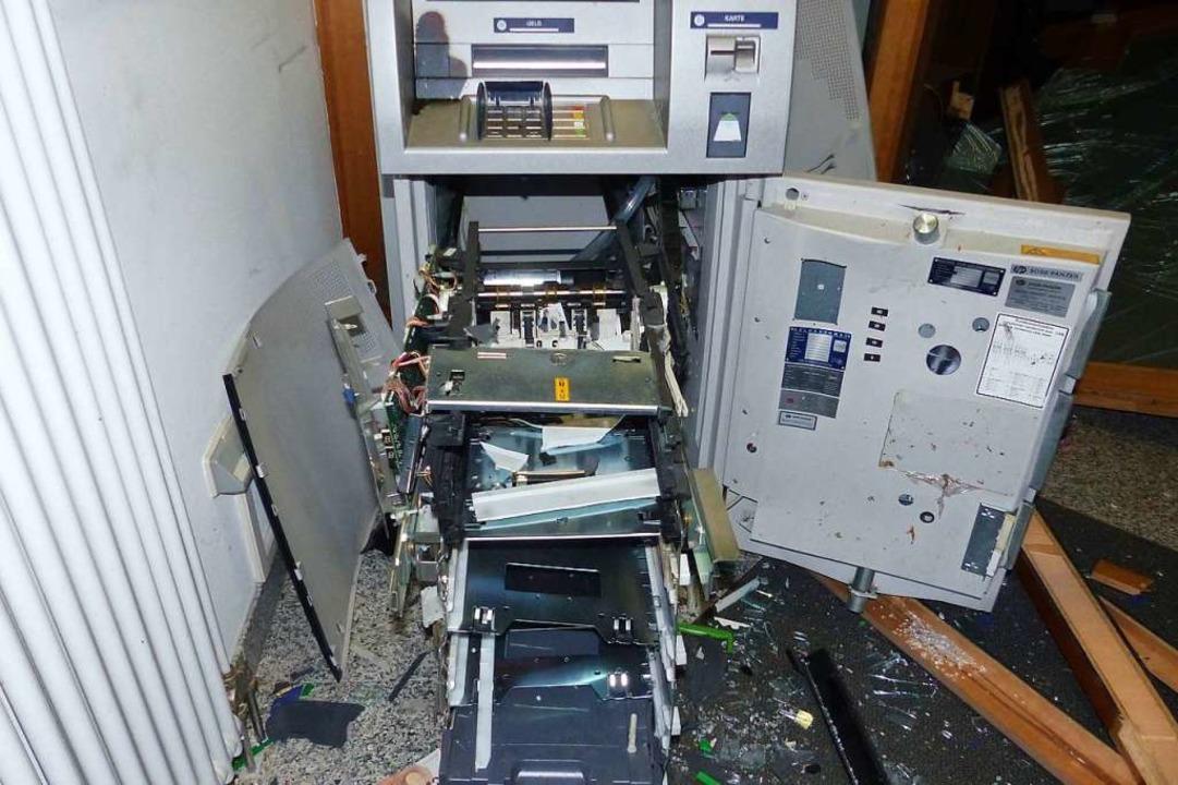 Ein weiterer gesprengter Automat  | Foto: Polizeipräsidium Freiburg