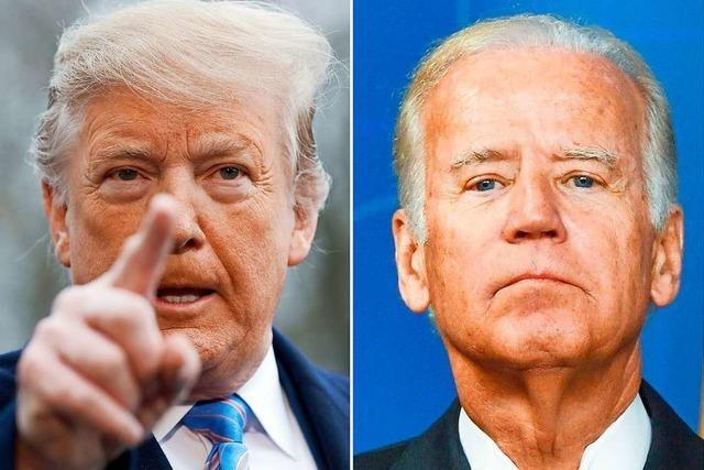 Trump und Biden liefern sich erstes TV-Duell vor der Wahl
