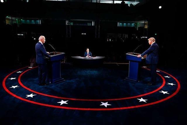 Trump beleidigt, attackiert und provoziert im ersten TV-Duell