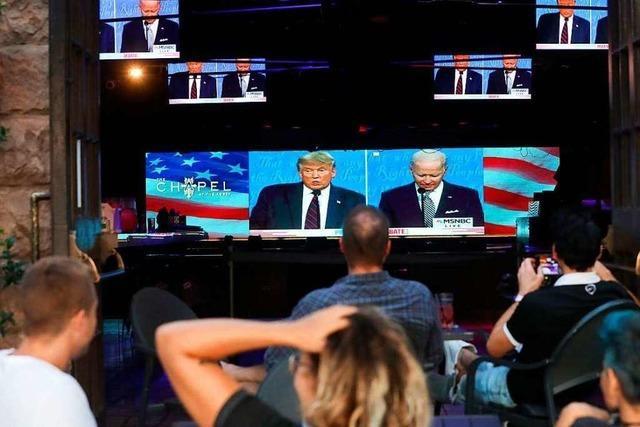 Fotos: So hat Amerika das TV-Duell zwischen Trump und Biden verfolgt