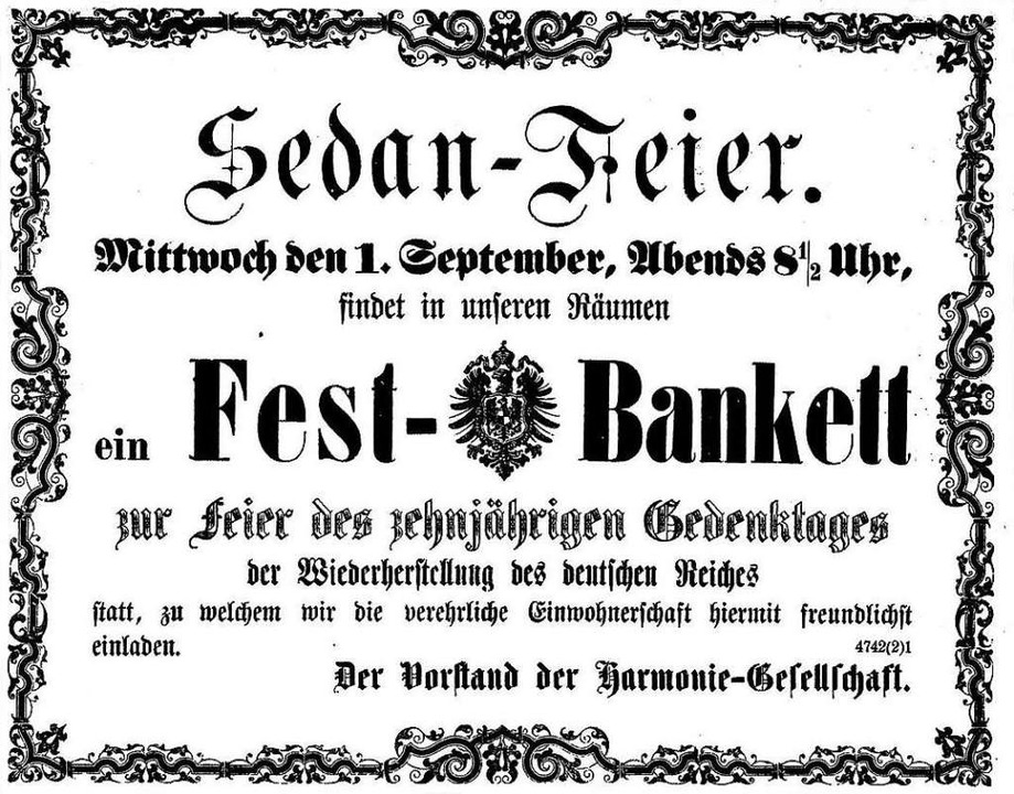 Eine Zeitungsannonce  im August 1880  | Foto: Repro Freiburger Zeitung