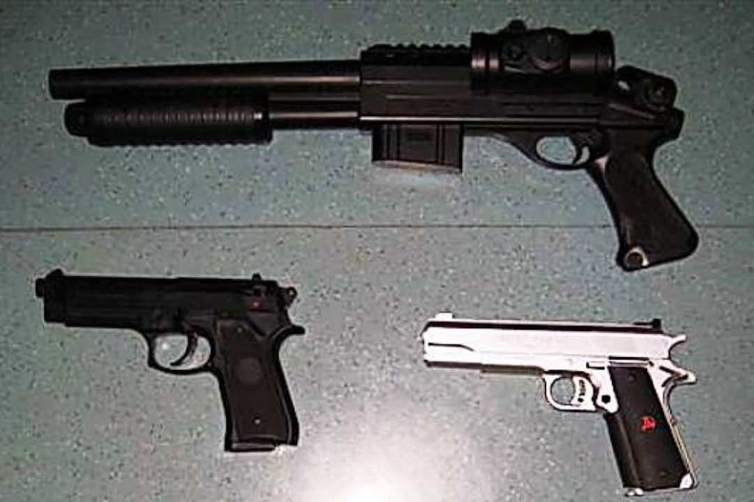 Softair-Waffen können täuschend echt aussehen (Symbolbild)  | Foto: polizei