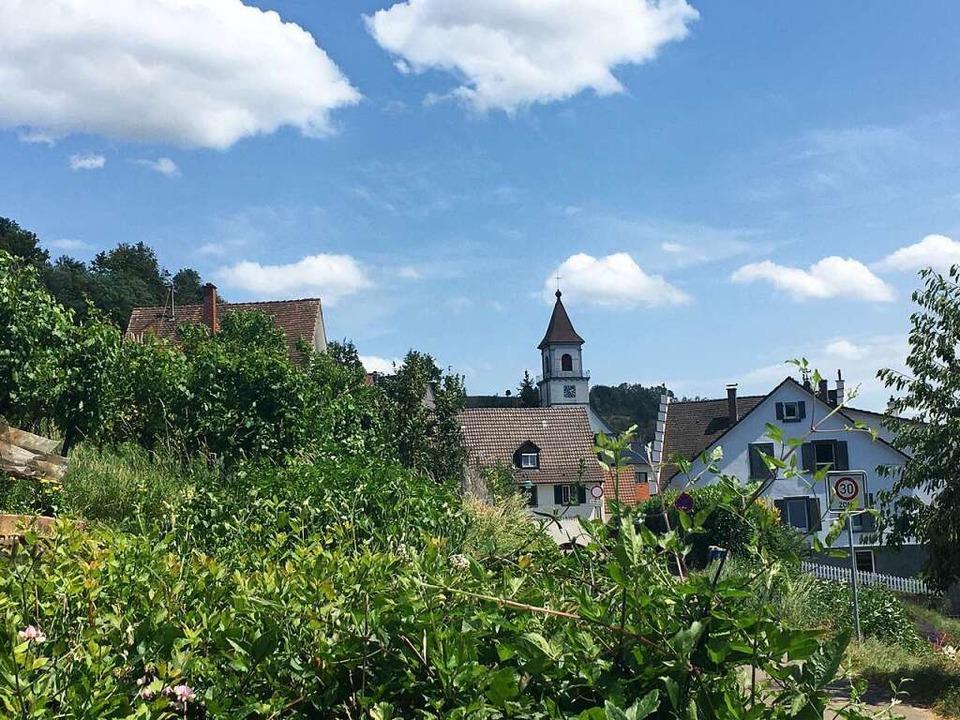 Kirchturm von Istein    Foto: Dominik Bloedner