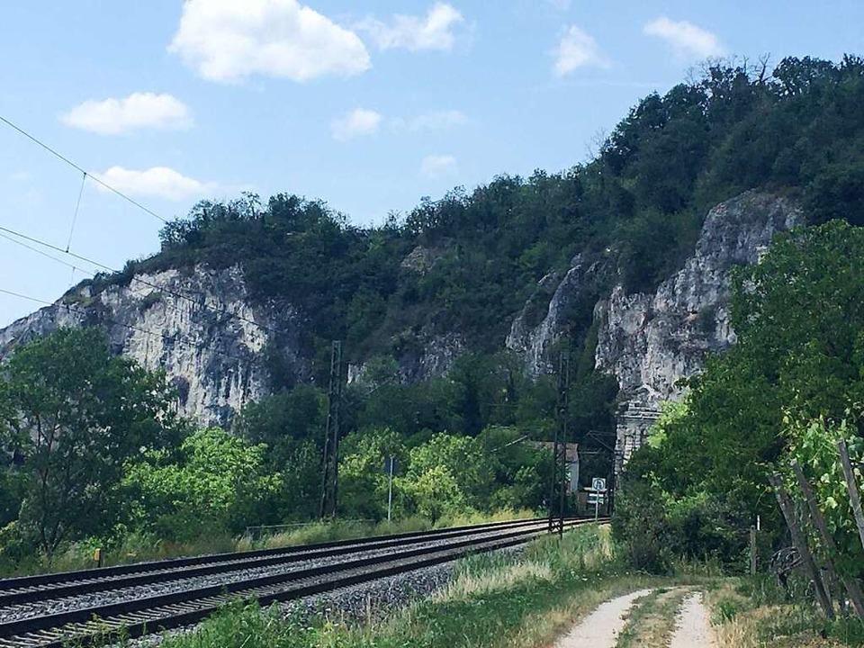 Kein Zug nirgendwo (zumindest beim Drü...Auslösers): Die Zugstrecke nach Basel.    Foto: Dominik Bloedner