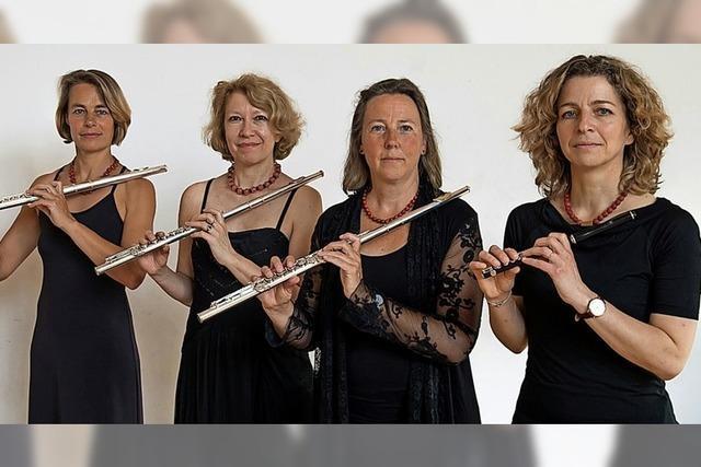 Verschiedene Querflöten im Quartett