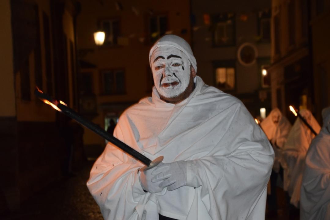 Hat sowieso schon nichts zu lachen: De...onsfiguren der Bad Säckinger Fasnacht.  | Foto: Stefan Ammann