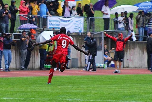 Was die Kicker vom Team Afrika aus Hügelheim heute machen