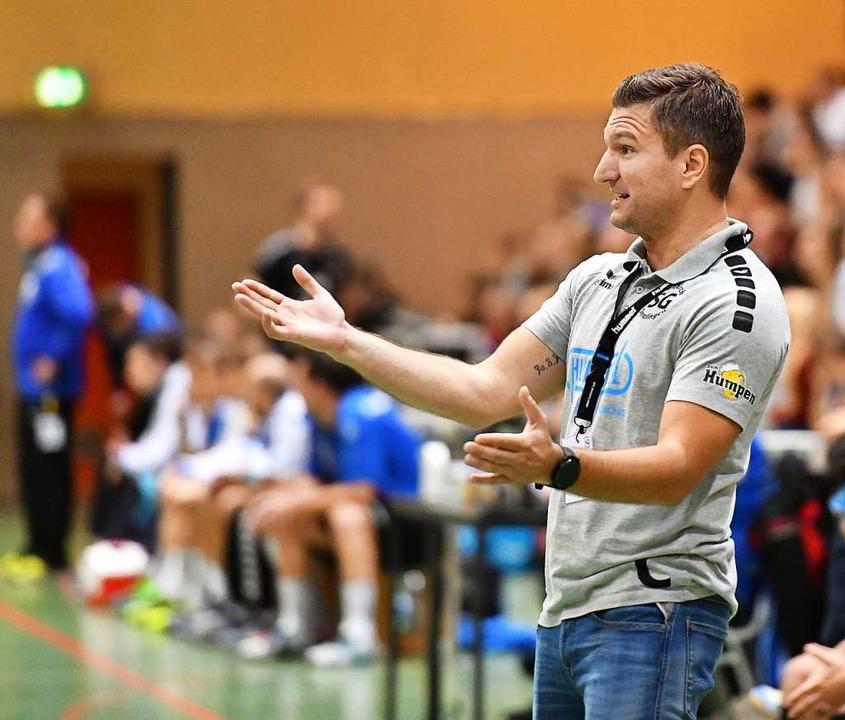 Ehrgeiziger Trainer bei der SG Waldkirch/Denzlingen: Ivan Mlinarevic  | Foto: Achim Keller