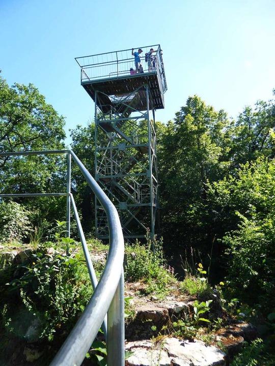 Auf dem Castellberg steht ein Aussichtsturm.  | Foto: Michael Neubauer