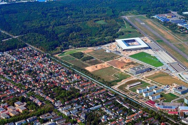 Die Suwonallee am neuen Stadion wird am Freitag für den Verkehr frei gegeben