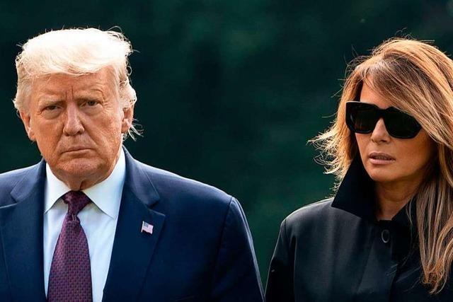 Donald Trump und Ehefrau Melania positiv auf das Coronavirus getestet