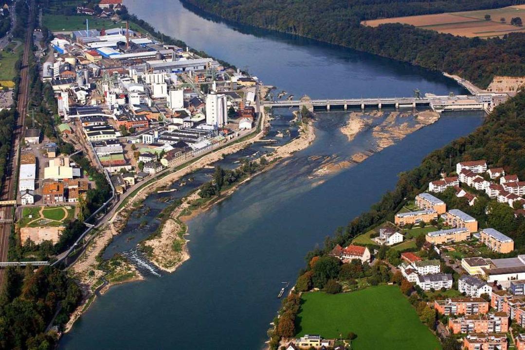 Das Kraftwerk in Rheinfelden begünstig...e Ansiedlung von Industrieunternehmen.  | Foto: Erich Meyer