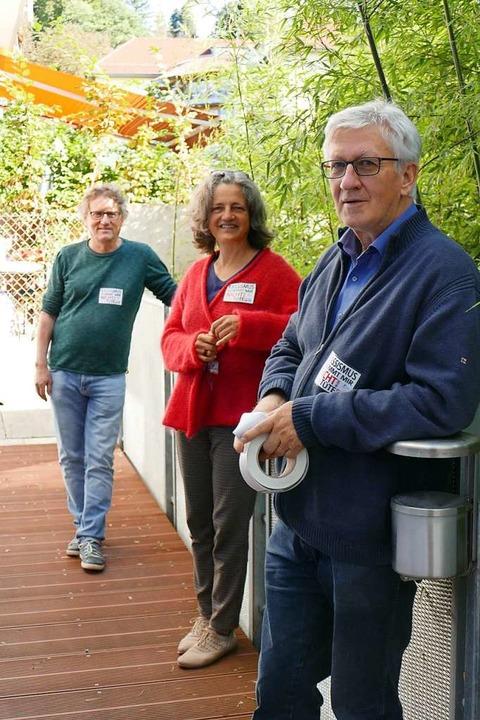 von links: Uwe Honecker (Caritasverban...artner (Freundeskreis Asyl Denzlingen)  | Foto: Marius Alexander
