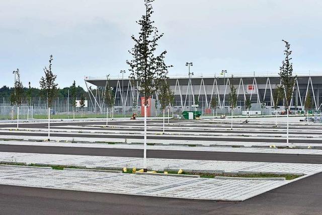 Die Infrastruktur fürs SC-Stadion im Freiburger Westen ist fertig
