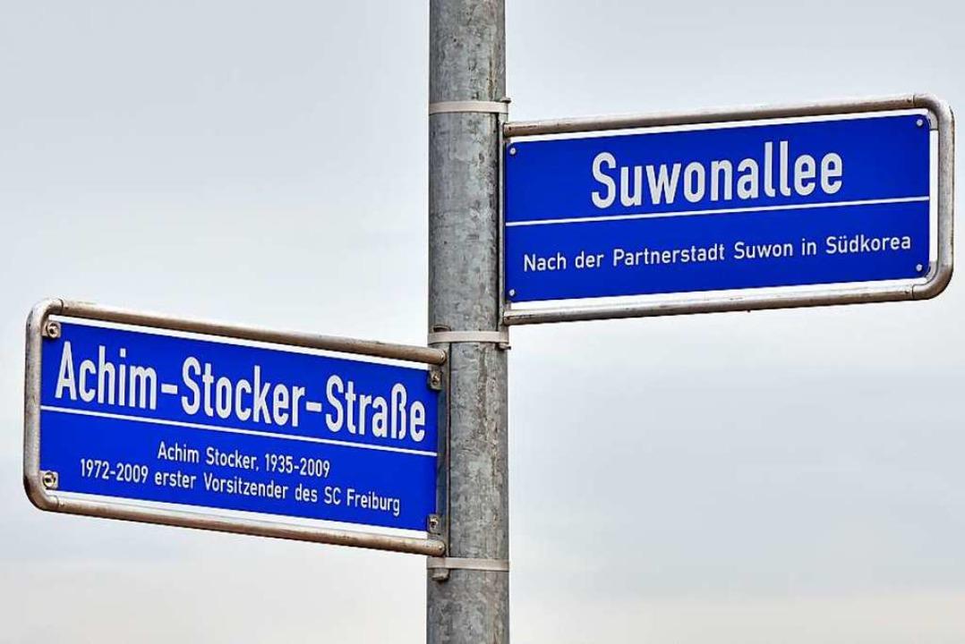 Die Suwonallee soll die Elsässer Straß...nach dem langjährigen SC-Vorsitzenden.  | Foto: Michael Bamberger