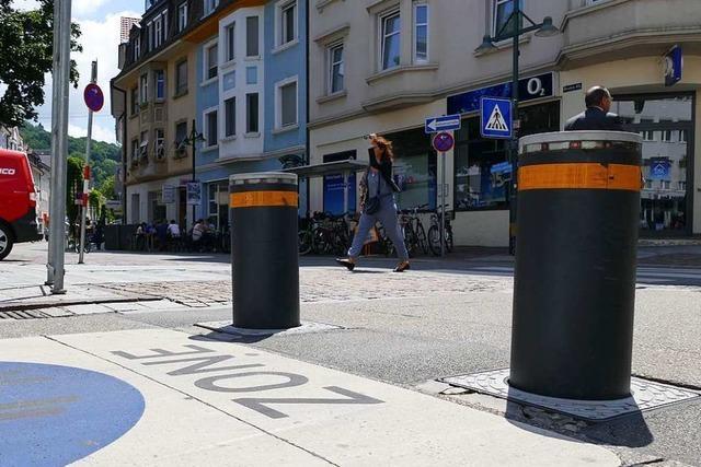 Gemeinderat Lörrach stimmt für weitere Poller in der Innenstadt