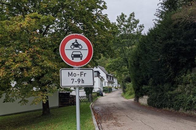 Warum dieses Schild nun doch wieder in Grenzach-Wyhlen steht