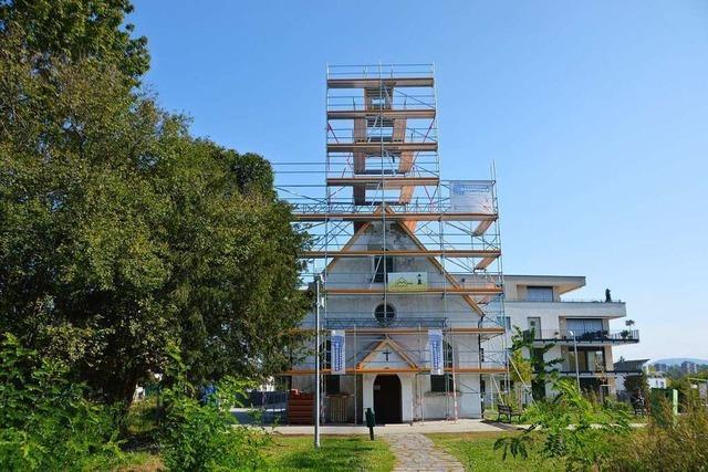 Die Adelsbergkirche in Rheinfelden hat gerade keinen Turm