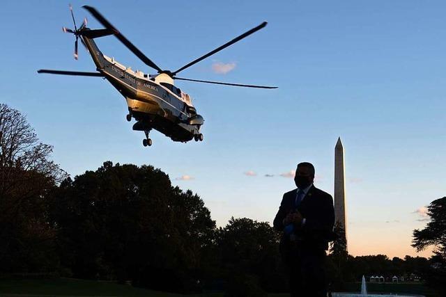 Corona-Patient Trump und die verbalen Beruhigungspillen
