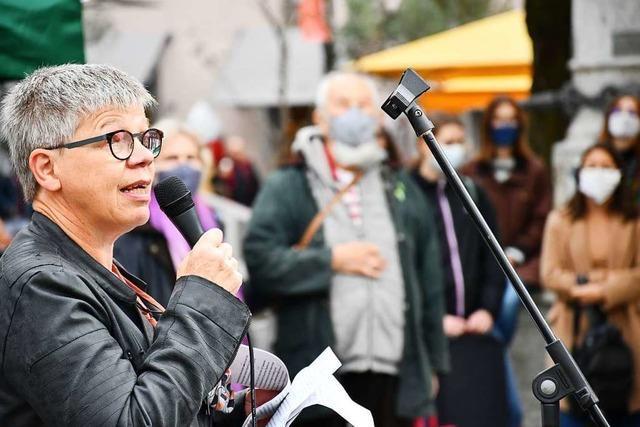Kundgebung in Lörrach für eine humane Flüchtlingspolitik Europas
