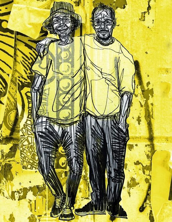 Graham und Simão Smith, gezeichnet von Michael Genter     Foto: Michael Genter
