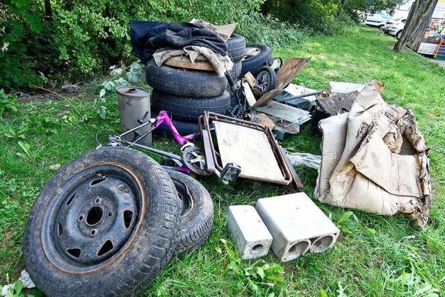 In der Pandemie gibt es in Freiburg rund 25 Prozent mehr illegalen Müll
