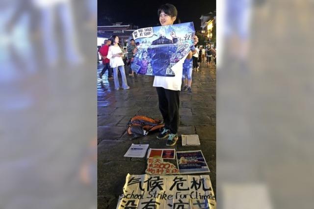 Chinas einsame Klimastreikerin