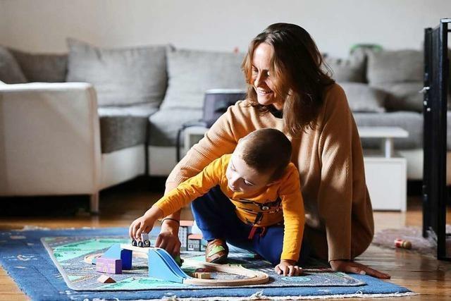 Angela Aoun betreut als Tagesmutter kleine Kinder bei sich zu Hause