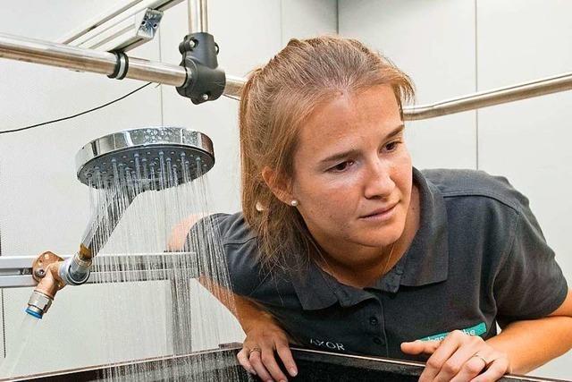Sound-Designerin sorgt für angenehmes Rauschen in der Dusche