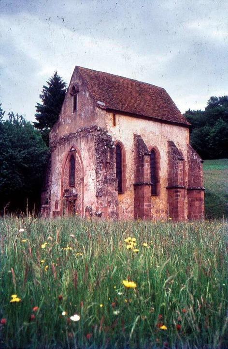 Nur die Siechenhauskapelle ist vom Kloster Tennenbach erhalten.    Foto: Peter Gürth