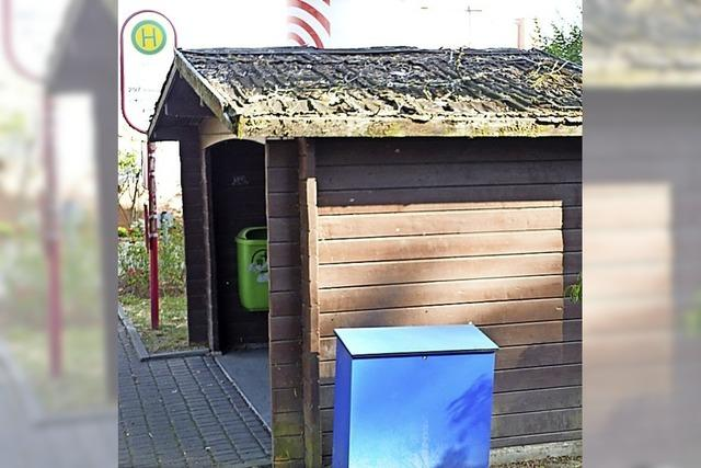 Häuschen an Bushaltestelle wird renoviert